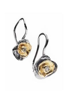 Shoptiques Product:  Diamond Earrings with Flakes