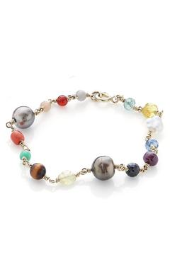 Shoptiques Product: Gemstone Gold Bracelet