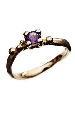 Shoptiques Product: Gold Ring With Amethyst