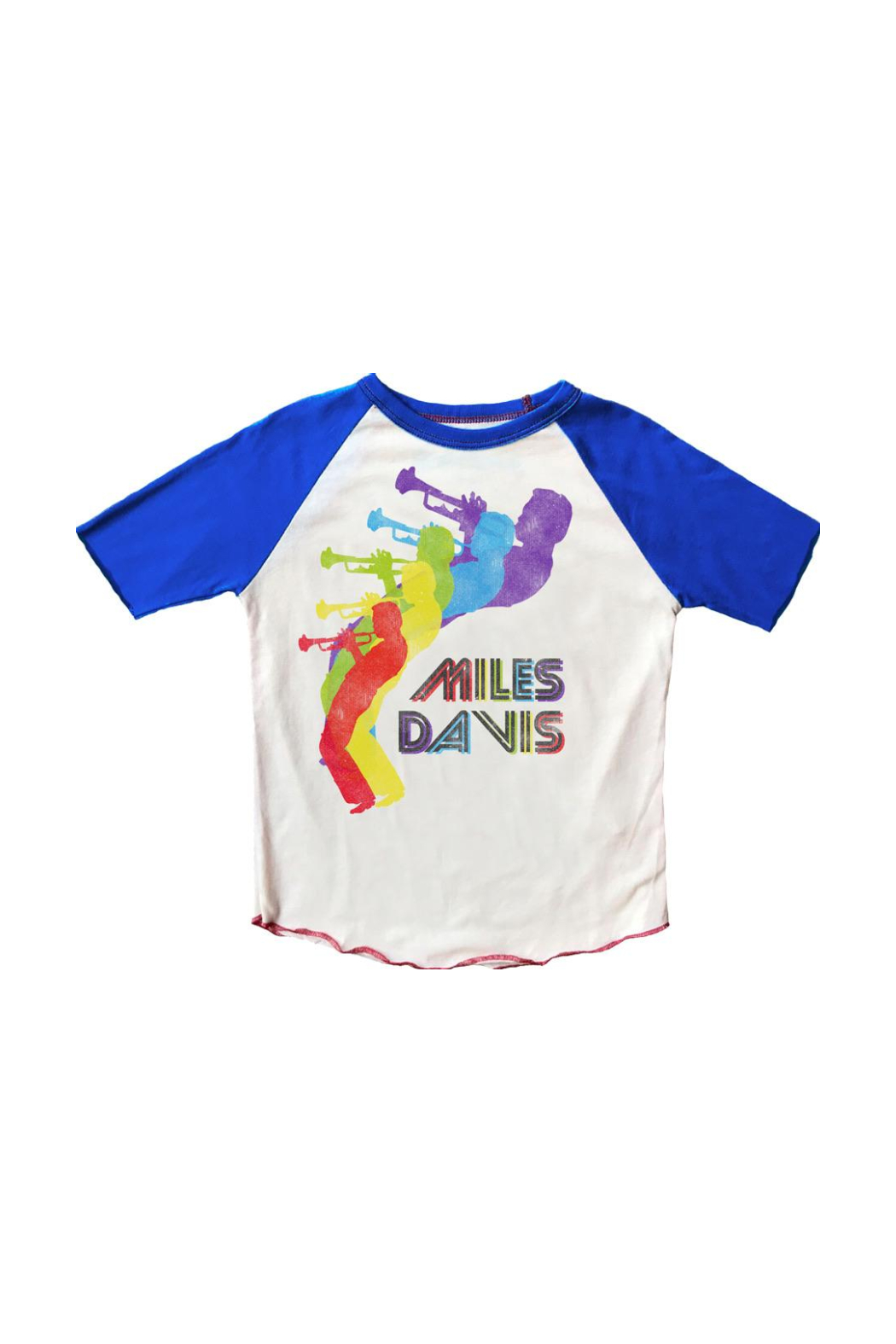 Rowdy Sprout Miles Davis Raglan Tee - Front Cropped Image
