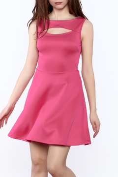Shoptiques Product: Hot Pink Sleeveless Dress