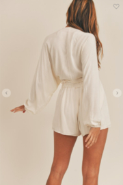 Mable Miley Bubble Sleeve Top + Shorts Set - Side cropped