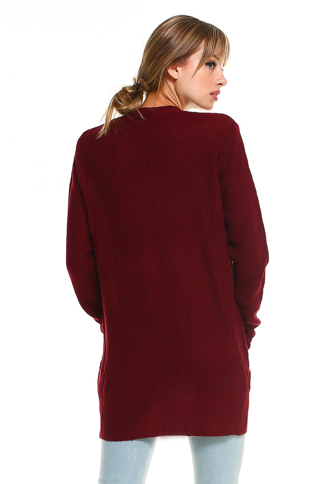 Miley and Molly 2 Pockets Sweater Cardigan For Women - Side Cropped Image