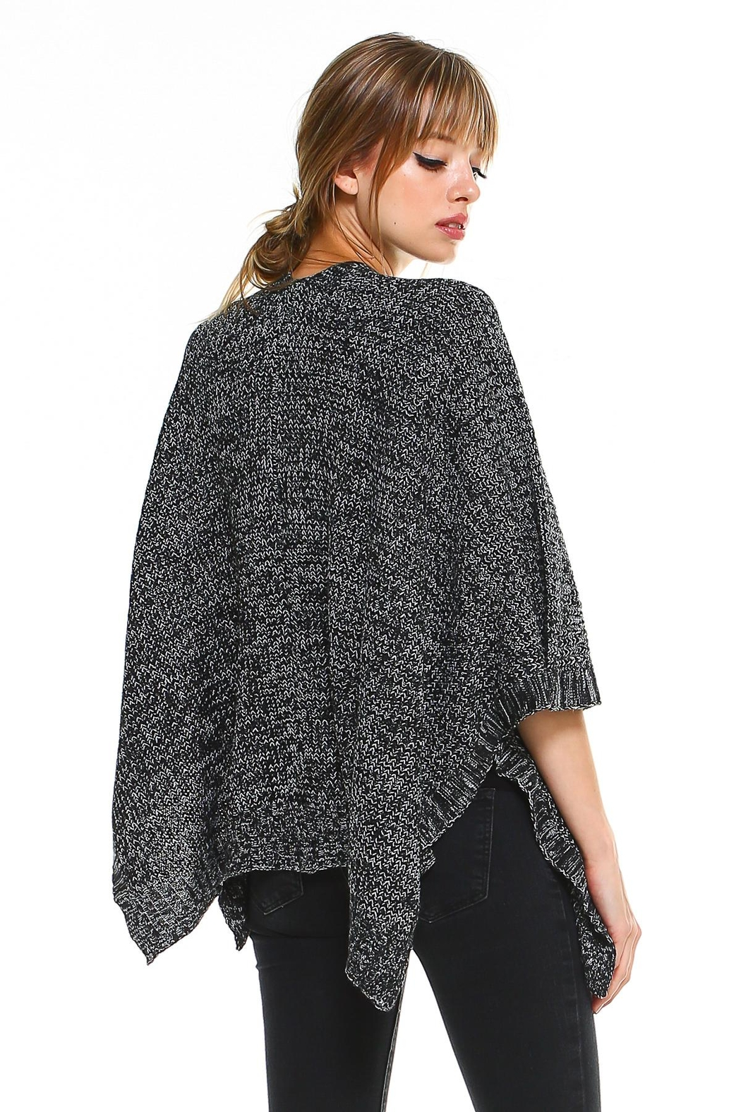 Miley and Molly 2 Tone Hanky Hem Cardigan - Side Cropped Image
