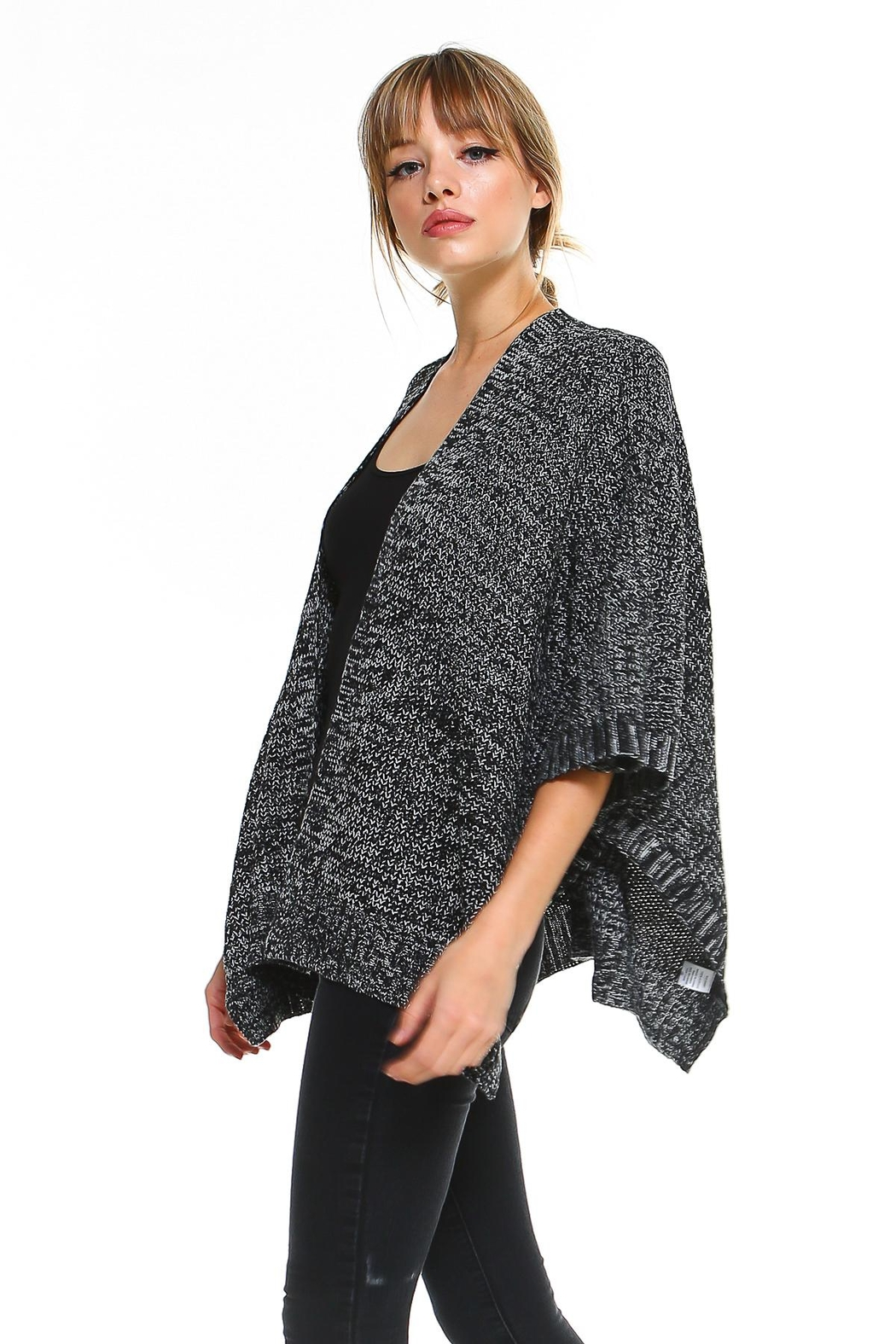 Miley and Molly 2 Tone Hanky Hem Cardigan - Front Full Image