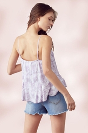 Miley and Molly Adjustable Strap Peplum Cami Top Tie Dye Stripe - Side cropped