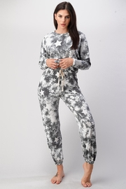 Miley and Molly Star Printed Jogger Set Pajama Set Lounge Wear Set Pj With Star - Product Mini Image
