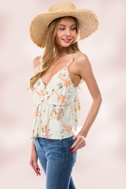 Miley and Molly Babydoll Camisole Top With Floral Linen - Product Mini Image