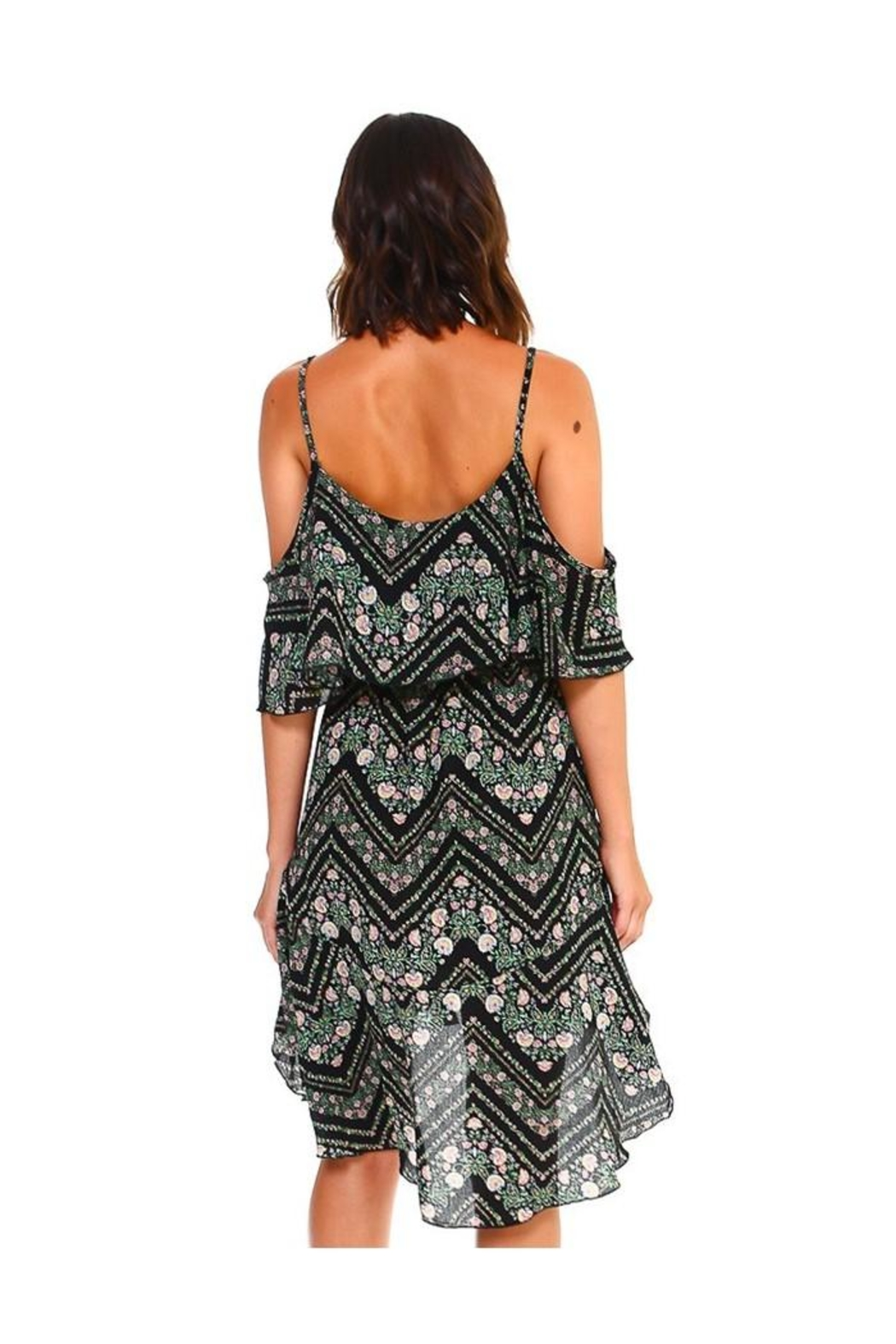 Miley and Molly Blink Floral Print Handy Hem Waist Dress - Side Cropped Image