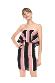 Miley and Molly Bold Stripe Flounce Tube Bodycon Dress - Side cropped