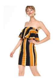 Miley and Molly Bold Stripe Flounce Tube Bodycon Dress - Front cropped