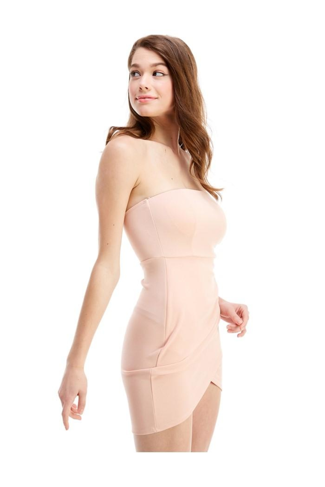 Miley and Molly Bra Cupped Tulip Hem Tube Dress - Front Full Image