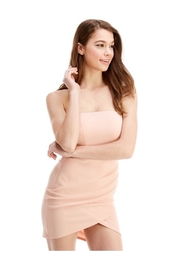 Miley and Molly Bra Cupped Tulip Hem Tube Dress - Front cropped