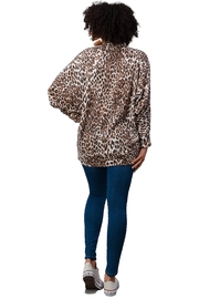Miley and Molly Brushed Hacci Leopard Printed Cocoon Cardigan - Back cropped