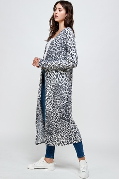 Miley and Molly Brushed Haci Leopard Printed Long Duster - Alternate List Image