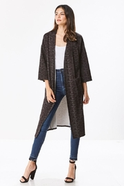 Miley and Molly Brushed Knit Maxi Cardigan - Front full body