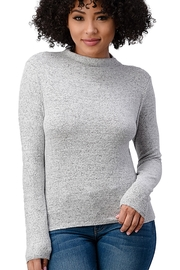 Miley and Molly Brushed Knit Solid Mock Neck Long Sleeve Top - Product Mini Image