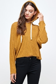 Miley and Molly Brushed Two Tone Sweater Rib Hooded Top - Product Mini Image