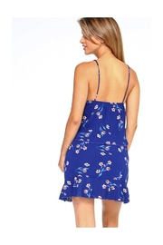 Miley and Molly Bubble Crepe Daisy Tie Front Crop Top & Ruffle Skirt Matching Sets - Front full body