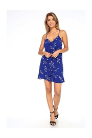 Miley and Molly Bubble Crepe Daisy Tie Front Crop Top & Ruffle Skirt Matching Sets - Back cropped