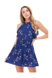 Miley and Molly Bubble Crepe Floral Print Romper - Front cropped