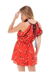 Miley and Molly Bubble Crepe Floral Print Romper - Side cropped