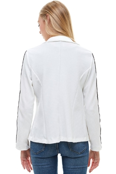 Miley and Molly Bullet With Button Stripe Tape Blazer Jacket - Alternate List Image