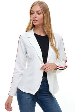 Miley and Molly Bullet With Button Stripe Tape Blazer Jacket - Product List Image