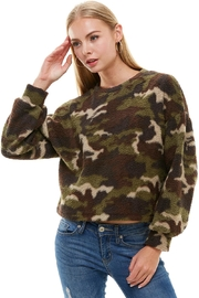 Miley and Molly Camouflage Dolman Sleeve Sweatshirt - Product Mini Image