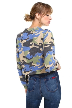 Miley and Molly Camouflage Front Full Zip Up Jacket Top - Alternate List Image