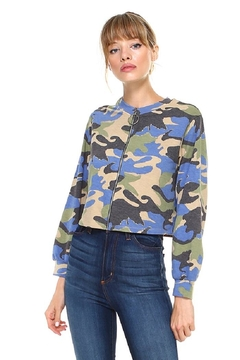 Miley and Molly Camouflage Front Full Zip Up Jacket Top - Product List Image