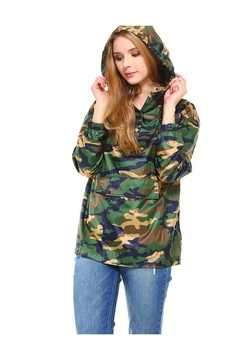 Miley and Molly Camouflage Hooded Windbreaker Top - Product List Image