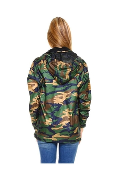 Miley and Molly Camouflage Hooded Windbreaker Top - Alternate List Image