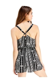 Miley and Molly Carey Print Romper - Front full body