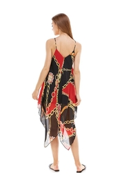 Miley and Molly Chain Print Hanky Hem Scarf Midi Dress - Other
