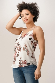 Miley and Molly Chiffon Floral V-Neck Camisole Top - Front cropped