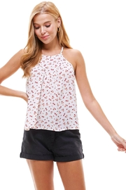 Miley and Molly Ditsy Floral High Neck Tank Top - Product Mini Image