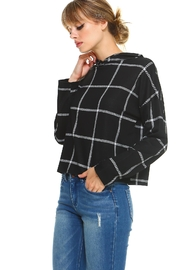 Miley and Molly Double Knit Window Pane Hoodie Top - Product Mini Image