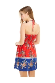 Miley and Molly Ethnic Print Hi-Neck Halter Dress - Side cropped