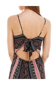 Miley and Molly Ethnic Print Tie Back Tube Jumpsuit - Side cropped