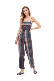 Miley and Molly Ethnic Print Tie Back Tube Jumpsuit - Front cropped
