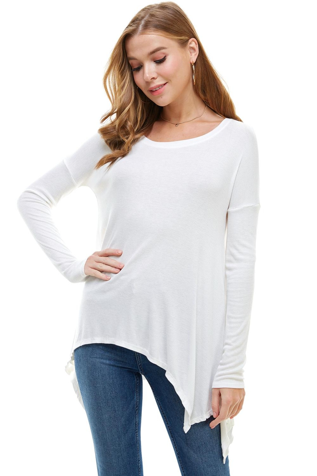 Miley and Molly Everyday Favorite Ribbed Knit Top - Main Image