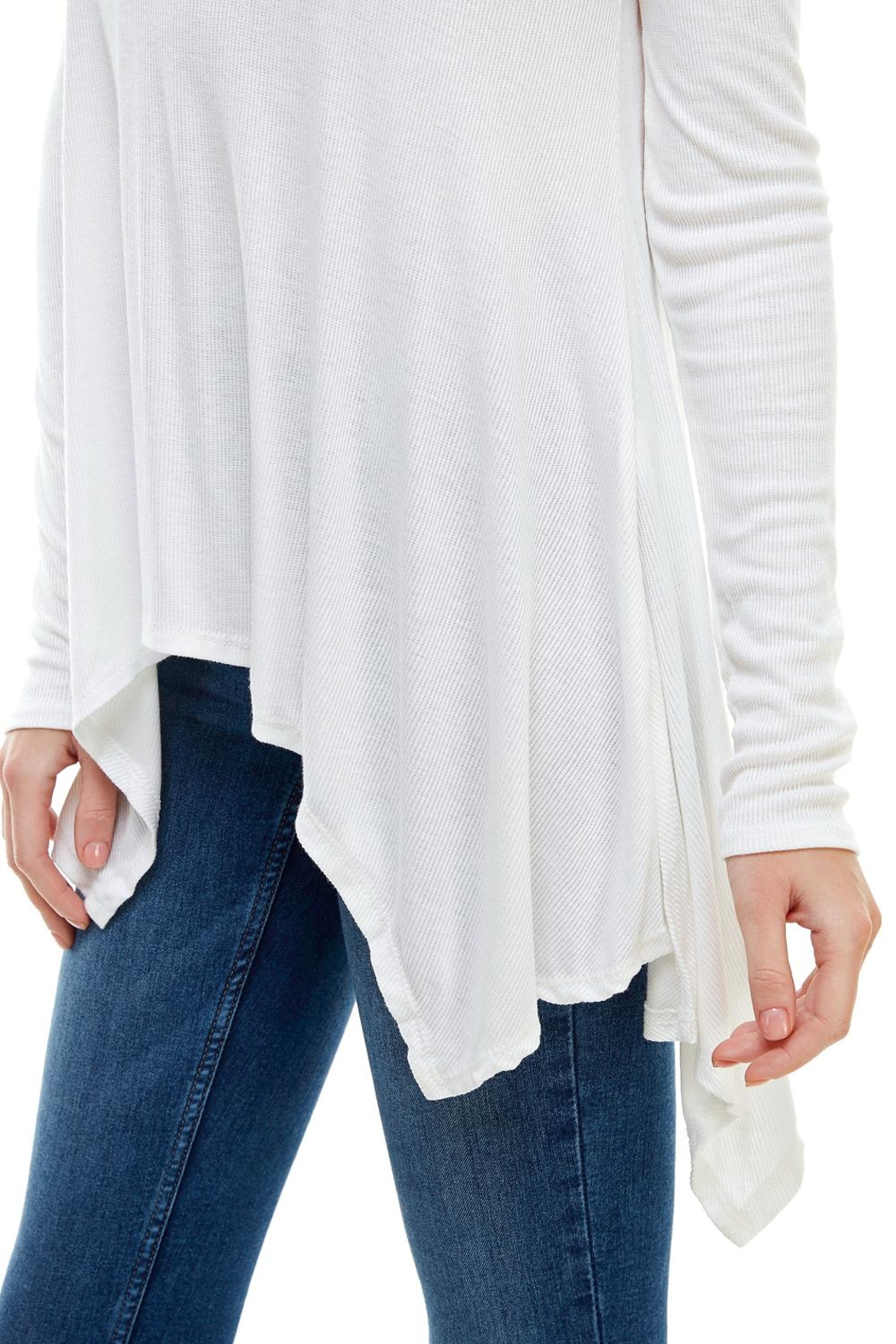 Miley and Molly Everyday Favorite Ribbed Knit Top - Side Cropped Image