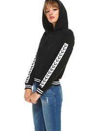 Miley and Molly Fleece Lace Up Detail Sleeve Hoodie Top - Product Mini Image