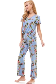 Miley and Molly Floral Blue Lounge Wear Matching Sets, - Product Mini Image