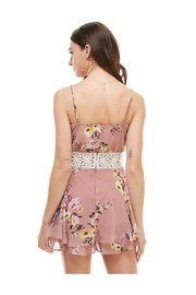 Miley and Molly Floral Crochet Waist Skort Romper - Side cropped