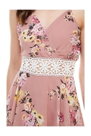Miley and Molly Floral Crochet Waist Skort Romper - Front full body