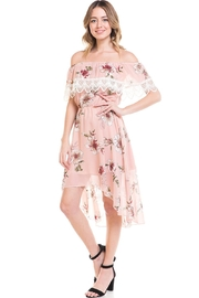 Miley and Molly Floral Off Shoulder Hi-Low Dress - Front cropped