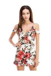 Miley and Molly Floral Print Ruffle Sleeve Romper - Product Mini Image