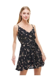 Miley and Molly Floral Print Surplice Self Sash Skater Dress - Product Mini Image